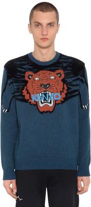 Kenzo Tiger Intarsia Brushed Knit Sweater