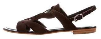 Tod's Suede Slingback Sandals