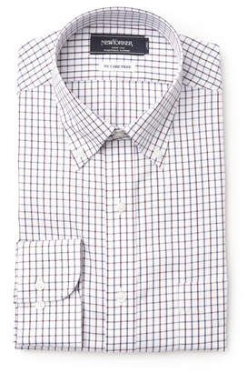 NEWYORKER men's 【形態安定性/NY CARE FREE】タッターソール/長袖ボタンダウンモデレートシャツ