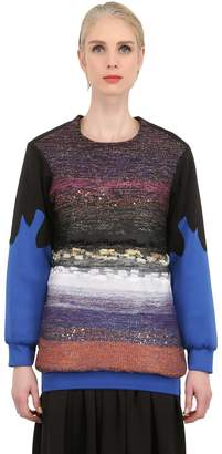 Neoprene And Lurex Sweater