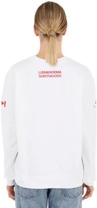 Luisa Via Roma Luisaviaroma Logo Crewneck Sweatshirt