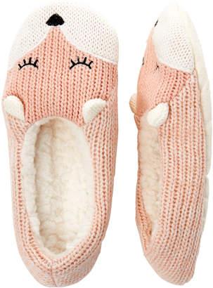 Capelli New York Fox Knit Slipper Socks