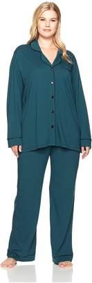 Cosabella Women's Plus-Size Bella Plus L/s Pant Pj Set Sleepwear