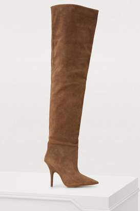Yeezy Tubular thigh-high boots