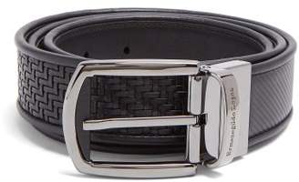 Ermenegildo Zegna Reversible Woven Leather Belt - Mens - Black