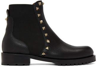 Valentino Black Garavani Rockstud Beatle Boots