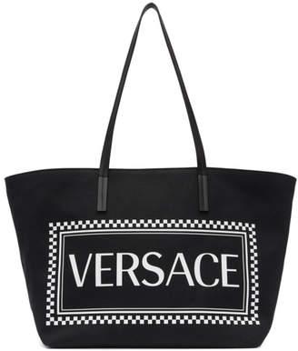 Versace Black Vintage Logo Tote
