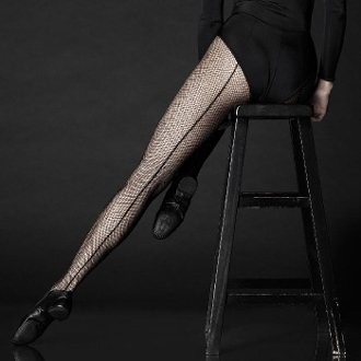 Women's Professional Back Seam Fishnet with Comfort Sole, Black, A/B