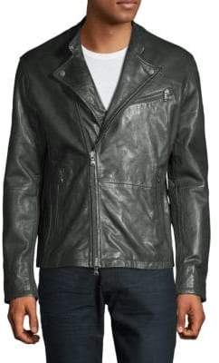 John Varvatos Classic Biker Leather Jacket