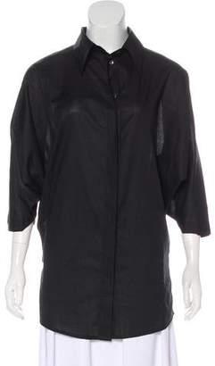 Ann Demeulemeester Short Sleeve Button-Up Top