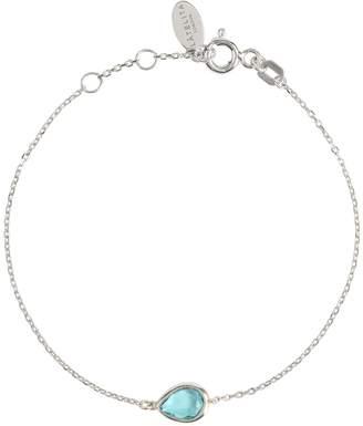 Latelita London - Pisa Mini Teardrop Bracelet Silver Blue Topaz