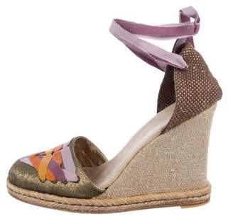 Marc Jacobs Woven Embellished Wedges