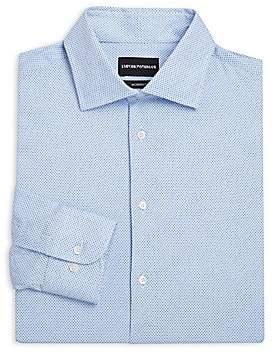 Emporio Armani Men's Modern-Fit Micro Dot Dress Shirt