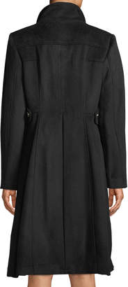 Karl Lagerfeld Paris Double-Breasted Wool-Blend Military Coat
