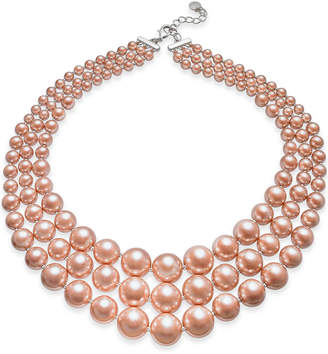 Charter Club Imitation Pearl Three-Row Collar Necklace