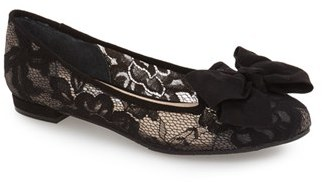 Nina 'Wisdom' Embroidered Bow Flat (Women) $88.95 thestylecure.com