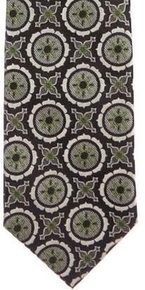 Christian Lacroix Geometric Jacquard Silk Tie w/ Tags