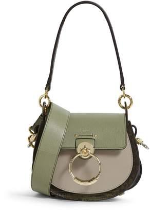 Chloé Small Lizard-Embossed Tess Saddle Bag