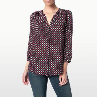 French Kisses Printed Pleat Back Blouse $88 thestylecure.com