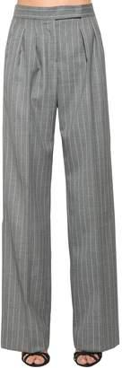Max Mara Pin Stripe Wide Leg Cool Wool Pants