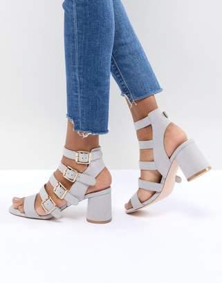 Faith Exclusive Buckle Block Heeled Sandals
