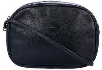 Longchamp Vintage Leather Zip Crossbody Bag