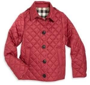 Burberry Little Girl's& Girl's Ashurst Quilt Jacket