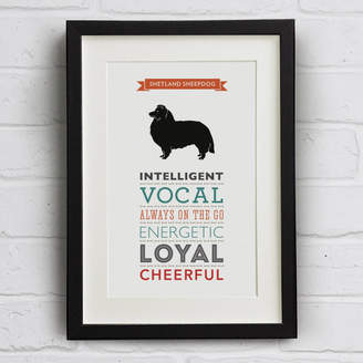 Breed Well Bred Design Shetland Sheepdog Dog Traits Print