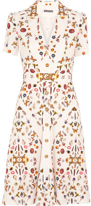 Alexander McQueen - Obsession Printed Crepe Dress - Ivory $2,895 thestylecure.com