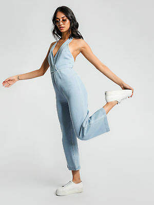 New Abrand Womens A Coney Jumpsuit In Walk Away Denim & Dungarees Jumpsuits