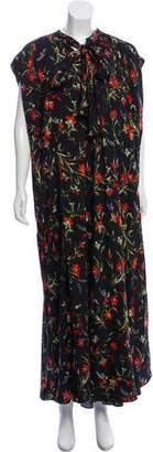 Balenciaga Slit Floral Dress