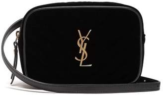 Saint Laurent Lou Quilted Velvet Belt Bag - Womens - Black