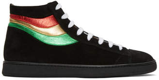 Marc Jacobs Black Stripes High-Top Sneakers