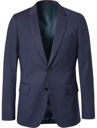 Paul Smith Navy Soho Slim-fit Puppytooth Wool Suit Jacket - Navy