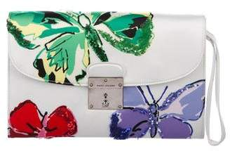 Marc Jacobs Sequin-Trimmed Isobel Satin Clutch