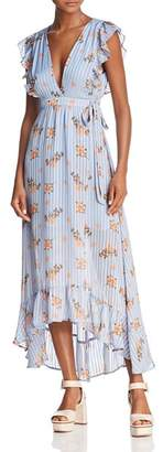 ASTR the Label ASTR Lila Ruffled Maxi Wrap Dress