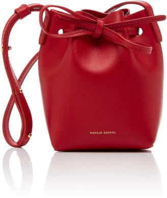 Mansur Gavriel M'O Exclusive Leather Baby Bucket Bag