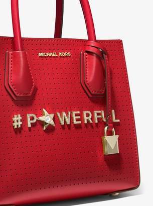 MICHAEL Michael Kors Mercer Powerful Perforated Leather Crossbody