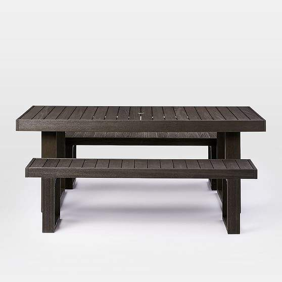 "Portside Dining Table Set (76.5"") - Weathered Cafe"