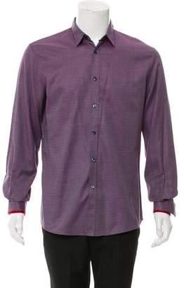 Alexander McQueen Geometric Print Button-Up Shirt