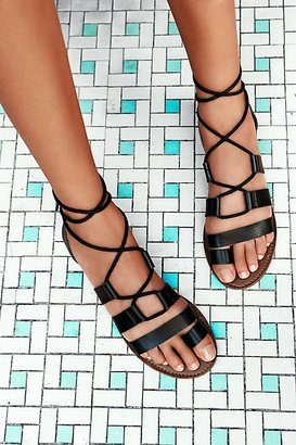 Vegan Maddie Tie Up Sandal by Faryl Robin at Free People $88 thestylecure.com