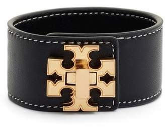 Tory Burch Logo Single Wrap Leather Bracelet