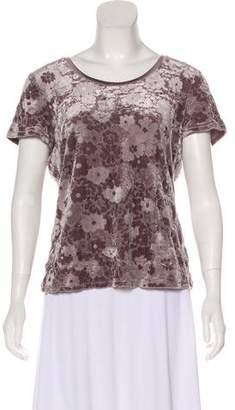 Armani Collezioni Velvet Short Sleeve Top