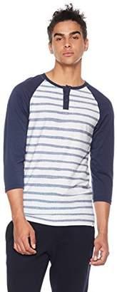 Rebel Canyon Men's Young 3/4 Sleeve Baseball Raglan Stripe Henley T-Shirt