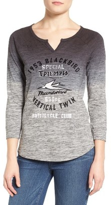 Women's Lucky Brand Triumph Graphic Space Dye Tee $39.50 thestylecure.com