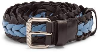 Prada Two-tone braided leather belt