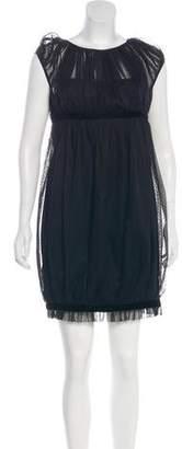 Marchesa Cap Sleeve Mini Dress