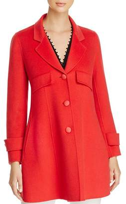 Emporio Armani Fitted Wool & Cashmere Coat