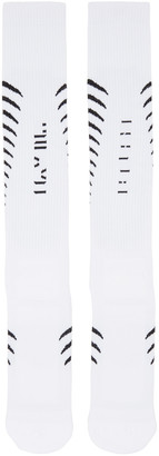 Unravel White Back Bone Socks $75 thestylecure.com