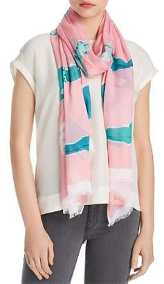 Kate Spade Alligator Oblong Scarf